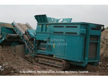 Powerscreen 1800 shredder - construction machinery