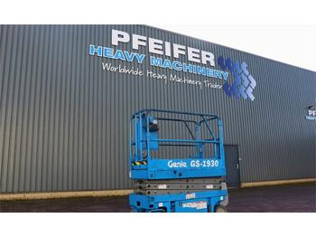 Scissor lift Genie GS1930 Electric, 7.8m Working Height, Non Marking