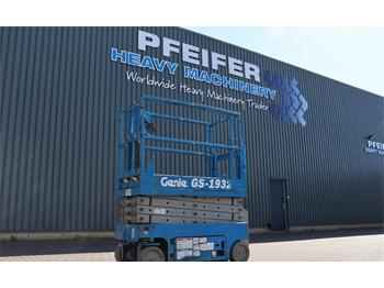 Scissor lift Genie GS1932 Electric, 7.8m Working Height, Non Marking
