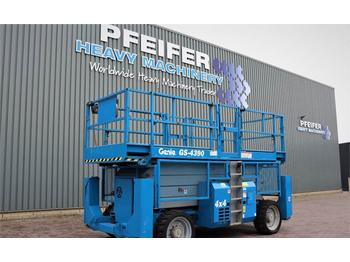 Scissor lift Genie GS4390RT Diesel, 4x4 Drive, 15.11m Working Height,