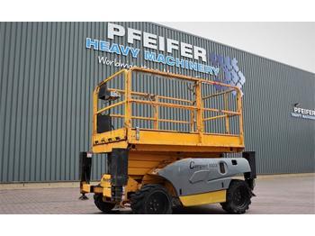 Scissor lift Haulotte COMPACT 10DX Diesel, 4x4 Drive, 10.2m Working Heig
