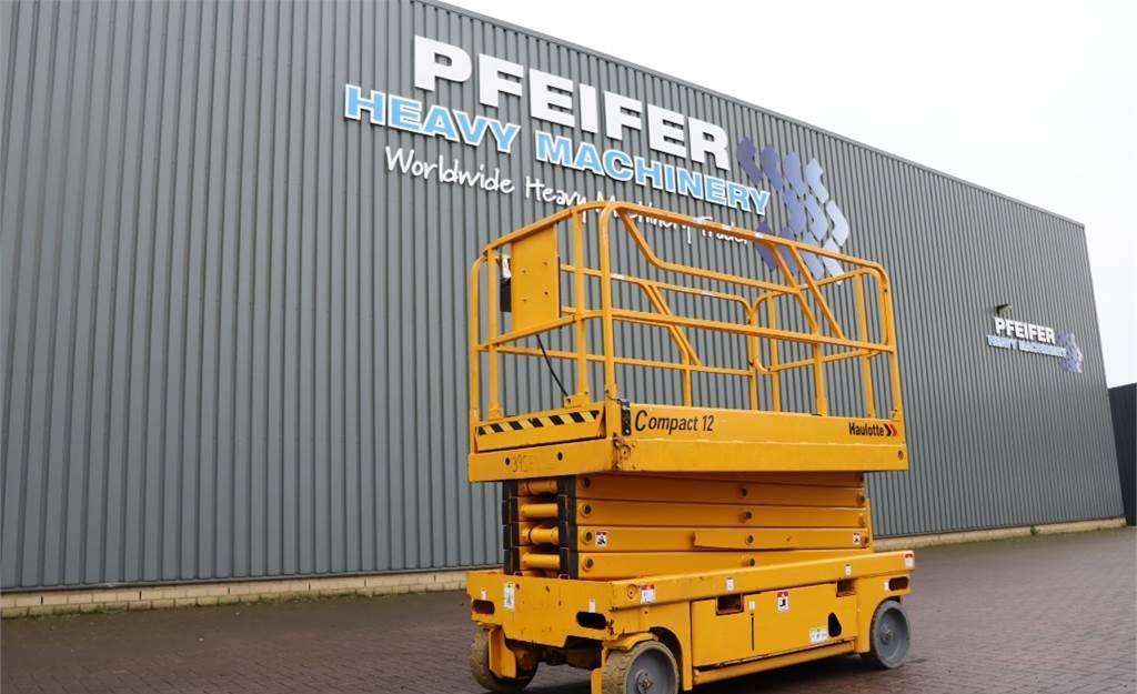 scissor lift Haulotte COMPACT 12 Electric, 12m Working Height, Non Marki