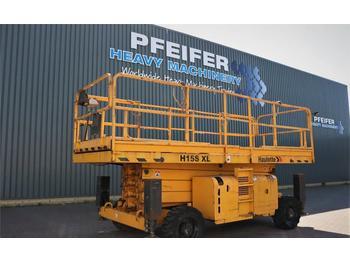 Scissor lift Haulotte H15SXL Diesel, 4x4 Drive, Mega Deck, 15m Working H