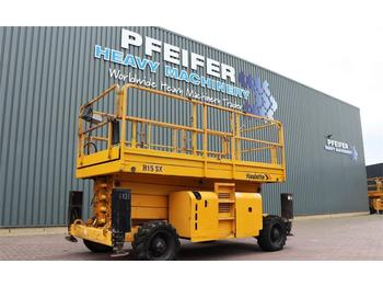 Scissor lift Haulotte H15SX Dielel, 4x4 Drive, 15m Working Height, Rough