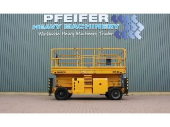 Scissor lift Haulotte H15SX Diesel, 4x4 Drive, 15m Working Height., Roug