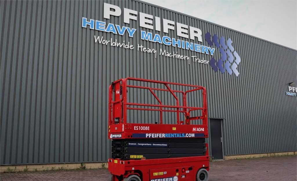 scissor lift Magni ES1008E Valid inspection, *Guarantee!, Electric, 1