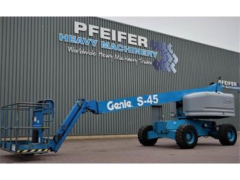 Telescopic boom Genie S45/4WD Diesel, 4x4x4 Drive, 15.72m Working Height
