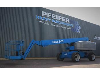 Telescopic boom Genie S65 4WD Valid inspection, *Guarantee! Diesel, 4x4