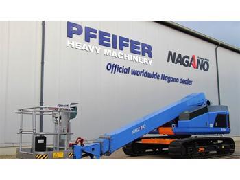 Telescopic boom Nagano S15AUJ Tracked Boomlift, 15 m Working Height, Rubb