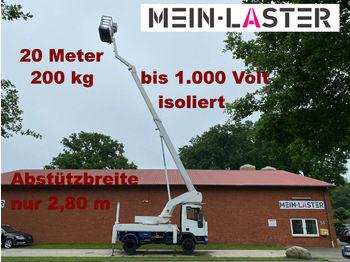 Truck mounted aerial platform Iveco Bison 20 Meter + seitlich 11,20m 200 kg