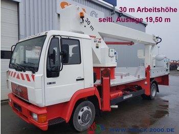 Truck mounted aerial platform MAN 8.163 WUMAG WT300 30m seitl.Auslage 19,50m*