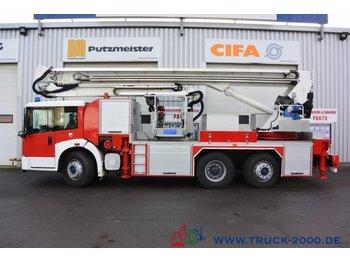 Truck mounted aerial platform Mercedes-Benz 2628 Feuerwehr Rettungsbühne 33m 4 Pers.*Rutsche