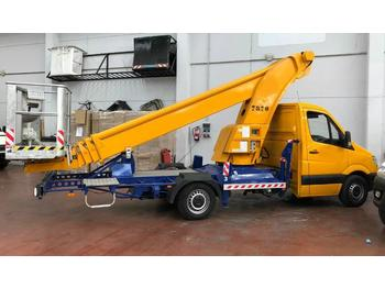 Mercedes-Benz Teupen 25 mts very few hours, only 36000 km  - truck mounted aerial platform