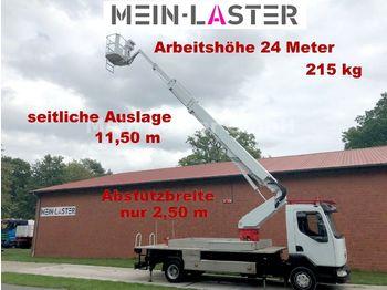 Truck with aerial platform Renault Midlum 180 DCI 24 Meter + seitlich 11,50m 215 kg