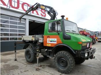 Unimog U 1000 + Hiab 650A - construction machinery