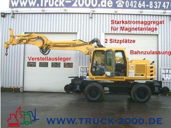 ATLAS 1604 KZW Zweiwegebagger+8 KVA Magnet Gleisbagger - wheel excavator