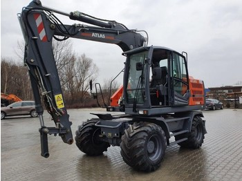 Atlas 160W blue - wheel excavator