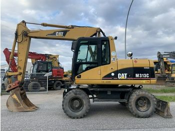 CAT M313 C Klima !- German Machine ! ! !  - wheel excavator