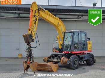 Wheel excavator Doosan DX160 W Rail Road Crane - Grapple and Bucket