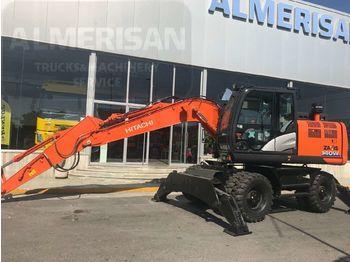 Wheel excavator HITACHI ZX 140W-6. EXCAVADORA DE RUEDAS