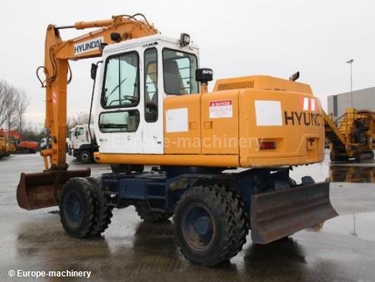 hyundai wheel excavator robex 130w 3 operating manual