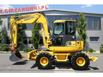 KOMATSU WHEEL EXCAVATOR 9 T PW 98MR-6 MIDI - wheel excavator