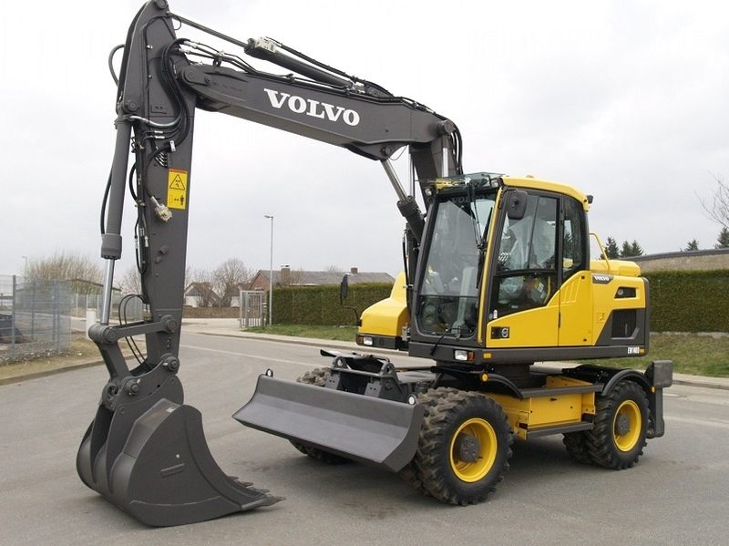 volvo ew 140d wheel excavator from norway for sale at truck1, id