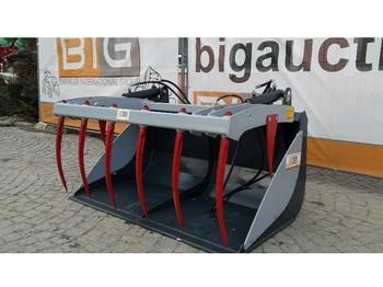 Wheel loader Krokodilschaufel 240 cm passend zu JCB Q fit Aufnahme
