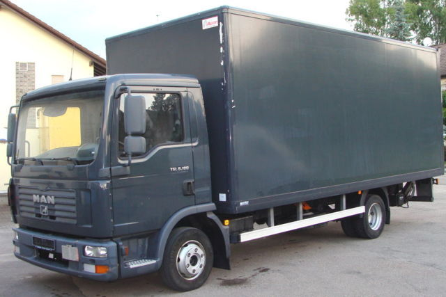 man tgl koffer ladebordwand closed box delivery van from germany for sale at truck1 id. Black Bedroom Furniture Sets. Home Design Ideas