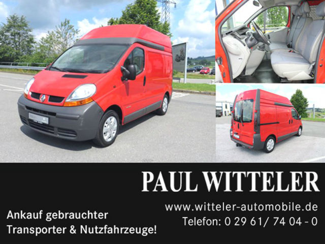 renault trafic dci 100 l 1 h 2 ahk 3 sitzer closed box delivery van from germany for sale at. Black Bedroom Furniture Sets. Home Design Ideas
