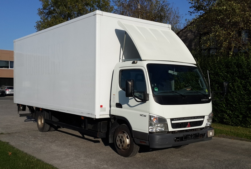 84e632e8cf6d92 MITSUBISHI CANTER FE 85 closed box van from Belgium for sale at ...