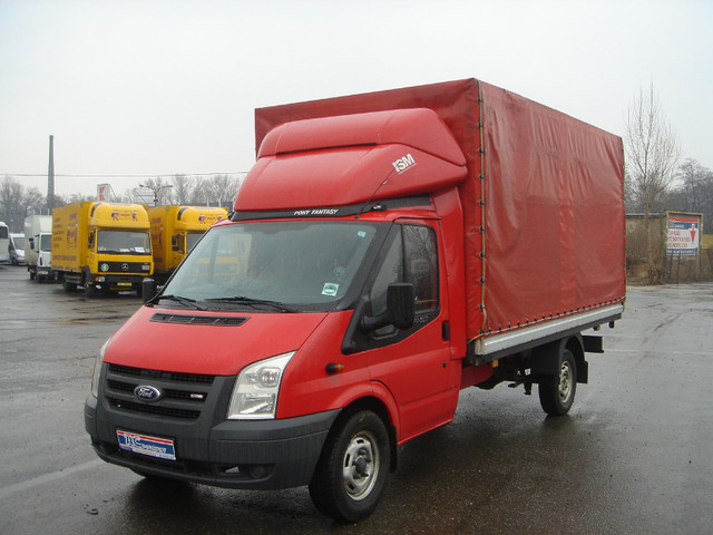 Ford Transit 350 Ef Pritsche Plane Curtain Side Van From Czech