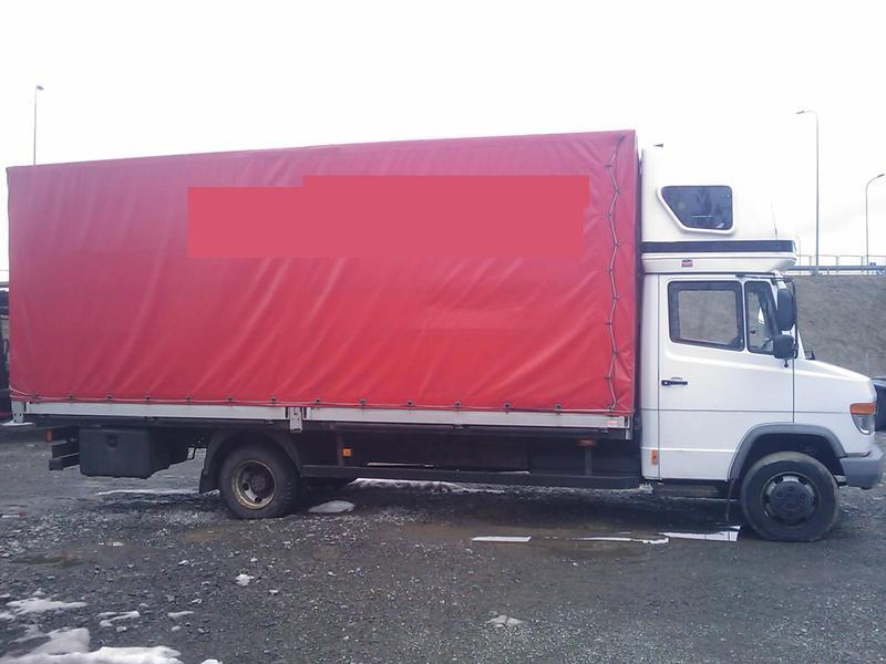 Mercedes Benz Vario 815 D 6 Meters Curtain Side Van From