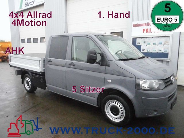vw t5 tdi 4motion doka allrad 1 hand 5sitzer open body delivery van from germany for sale at. Black Bedroom Furniture Sets. Home Design Ideas
