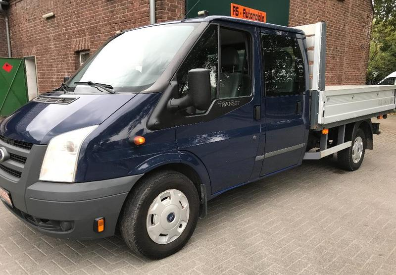 ford transit doka pritsche 7 sitzer open body delivery van from germany for sale at truck1 id. Black Bedroom Furniture Sets. Home Design Ideas
