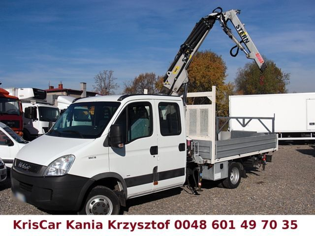 iveco daily 35c15 50c15 hds crane kran 7 seats open body delivery van from poland for sale at. Black Bedroom Furniture Sets. Home Design Ideas