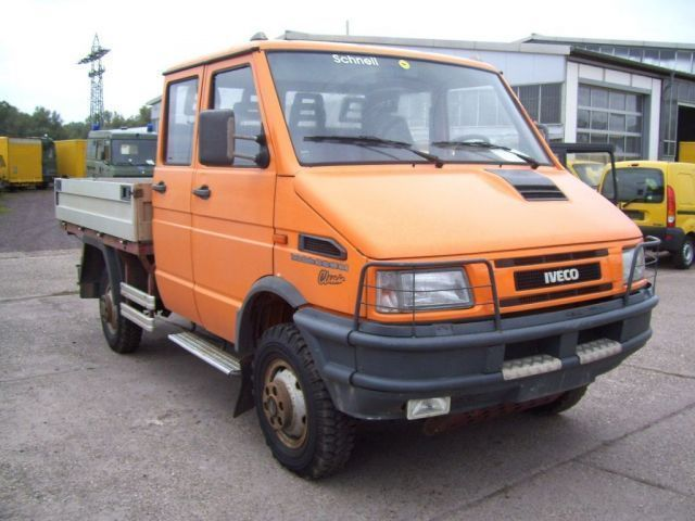 Iveco Turbo Daily 40 10 Wd Doka Pritsche 4x4 7 Sitzer Open