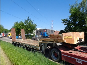 Alçak çerçeveli platform dorse ACTM Oplegger steel lames 3 axles: fotoğraf 1