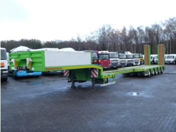 Kassbohrer 5-axle semi-lowbed trailer / 74000 kg / ext. 15.2 m - alçak çerçeveli platform dorse