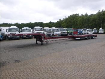 Alçak çerçeveli platform dorse Nooteboom 3-axle semi-lowbed trailer extendable 14.5 m + ramps