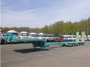 Alçak çerçeveli platform dorse Nooteboom 4-axle semi-lowbed trailer extendable 15.6 m + ramps