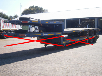 Traylona 3-axle lowbed trailer 35000 KG - alçak çerçeveli platform dorse