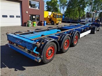 Kögel SW24 3 axle SAF - Discbrakes - Lift axle - 07/2020 APK - konteynır taşıyıcı/ yedek karoser dorse