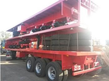 Platform dorse Jaluso Oplegger NEW /NEUF/3 axle springs/twistlocks