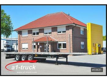 Schmitz Cargobull S01 Megatrailer, Plateau, verzinkt, Steckrungen,  - platform dorse