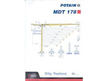 Potain MDT 178 - tornkraana