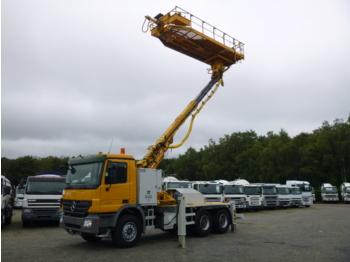Veoautolt tõusev platvorm Mercedes Actros 2636K 6x4 AMV manlift working platform rolling rig tunnel T8-T12