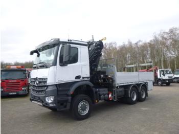 Veoautolt tõusev platvorm Mercedes Arocs 3333 6x6 + Hiab XS288 EP-5 HiPro + manlift: pilt 1