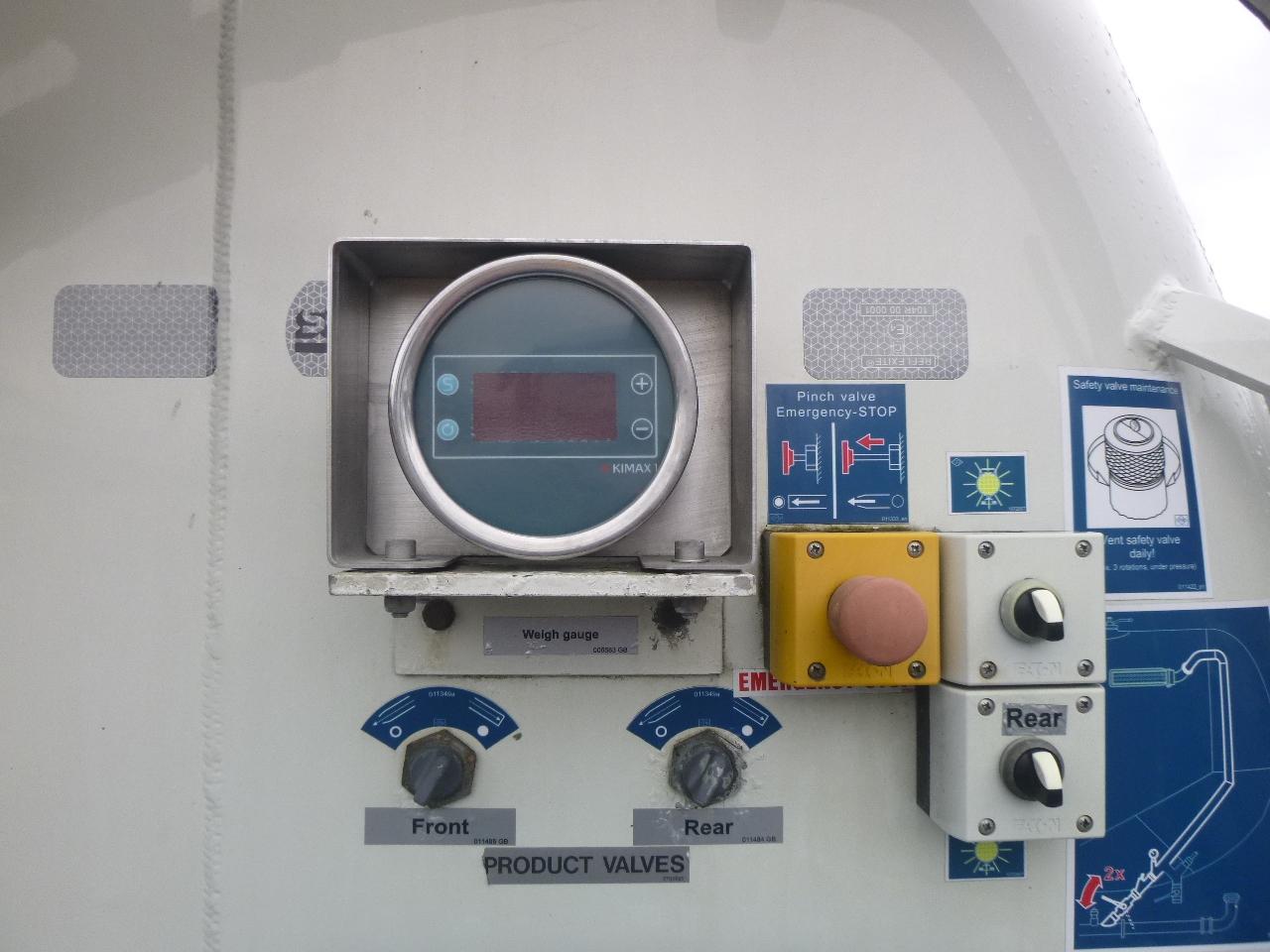 صهريج نصف مقطورة Feldbinder Powder tank alu 36 m3 / 1 comp: صور 14