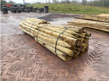 Bundle of Timber Post (2 of) - forestry equipment